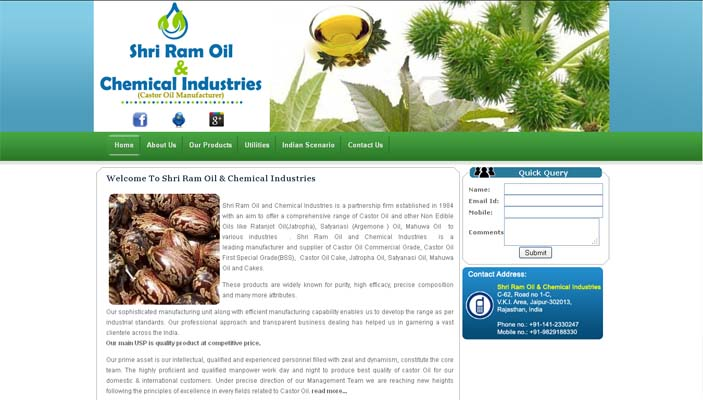 Shri Ram Oil & Chemical Industries